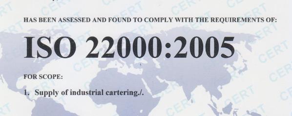 Đăng ký cấp giấy chứng nhận ISO 22000