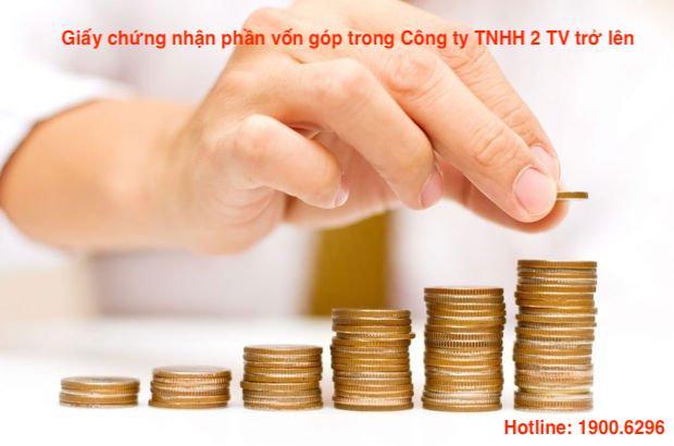 Giấy chứng nhận phần vốn góp trong Công ty TNHH 2 TV trở lên