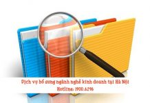 Dịch vụ bổ sung ngành nghề kinh doanh tại Hà Nội