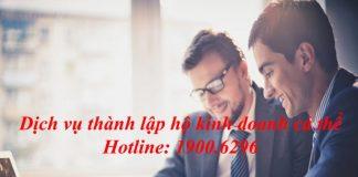 Dịch vụ thành lập hộ kinh doanh cá thể giá rẻ