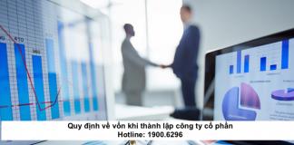 Quy định về vốn khi thành lập công ty cổ phần