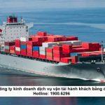 Thành lập công ty kinh doanh dịch vụ vận tải hành khách bằng đường biển